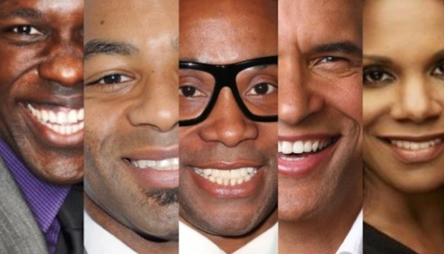 Joshua Henry, Brandon Victor Dixon, Billy Porter, Brian Stokes Mitchell and Audra McDonald in Shuffle Along