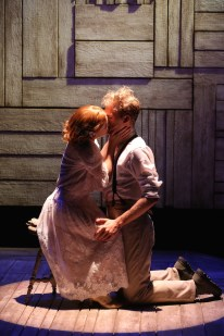 Mickey Theis and Juliet Brett in Beth Henley's The Resemblance Between a Violin Case and a Coffin