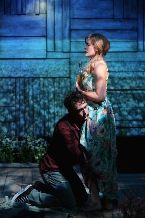 John Skelley and Megan Bartle in Rebecca Gilman's The Field of Blue Children