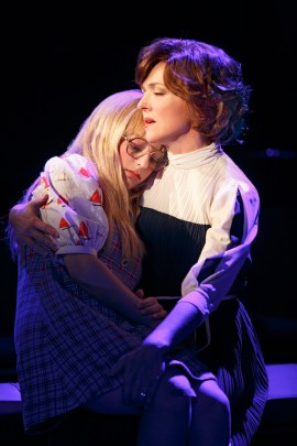 "Carly Tamer as Amy Carter and Rachel Bay Jones as Rosalynn Carter in ""Amy Carter's Fabulous Dream Adventure"" in First Daughter Suite"