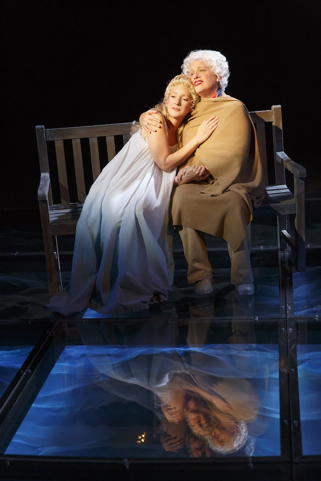 """Theresa McCarthy as Robin Bush and Marty Testa as Barbara Bush in """"In The Deep Bosom of the Ocean Buried"""" in First Daughter Suite"""