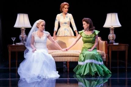 "First Daughter Suite Betsy Moran as Tricia Nixon, Barbara Walsh as Pat Nixon and Caissey Levy as Julie Nixon Eisenhower in ""Happy Pat"""
