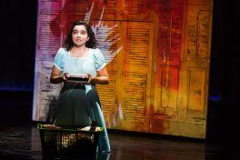 Alexandra Suarez as Little Gloria in ON YOUR FEET! (c) Matthew Murphy