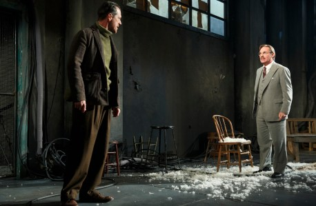 Darren Pettie and Richard Thomas in Incident at Vichy at Signature Theatre