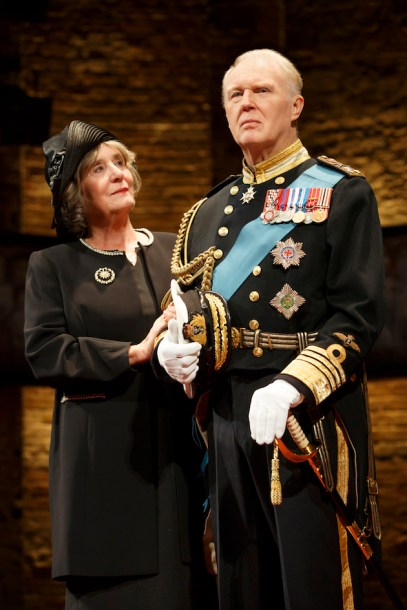Margot Leicester as Camilla, Tim Pigott-Smith as King Charles III