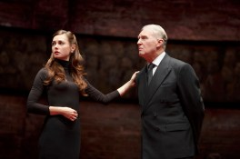 Lydia Wilson as Kate Middleton and Tim Pigott-Smith as her father-in-law King Charles