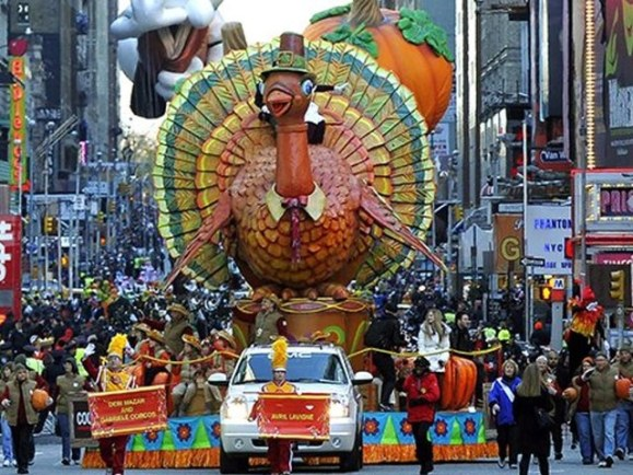 The turkey float in a previous Thanksgiving Day parade