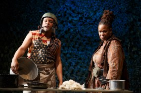 Mother Courage and Her Children Classic Stage Company Keisha Lewis Joshua Boone, Curtiss Cook Jr., Kevin Mambo, Jacob Ming-Trent, Geoffrey Owens, Michael Potts, Deandre Sevon, Mirirai Sithole, Zenzi Williams -