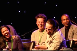 Hamilton cast sharing a laugh about stage door experiences, BroadwayCon 2016