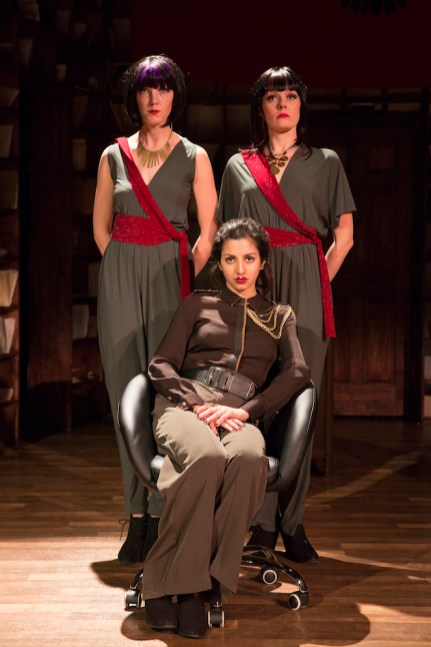 Seated: Layla Khoshnoudi Standing (L-R): Alaina Ferris and Catherine Brookman