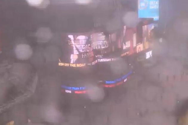 Times Square, Saturday, January 24, 2016 at 4:30 p.m.