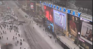 Times Square, January 23, 2016 at 1:30 p.m.
