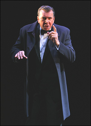 Frank Langella as Richard Nixon in Frost/Nixon, 2007. Peter Morgan's dramatization of journalist David Frost's television interviews with the president was set three years after Nixon resigned his office in disgrace.