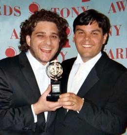 Jeff Marx and Bobby Lopez Tony Award