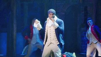 Okieriete Onaodowan as James Madison in Hamilton