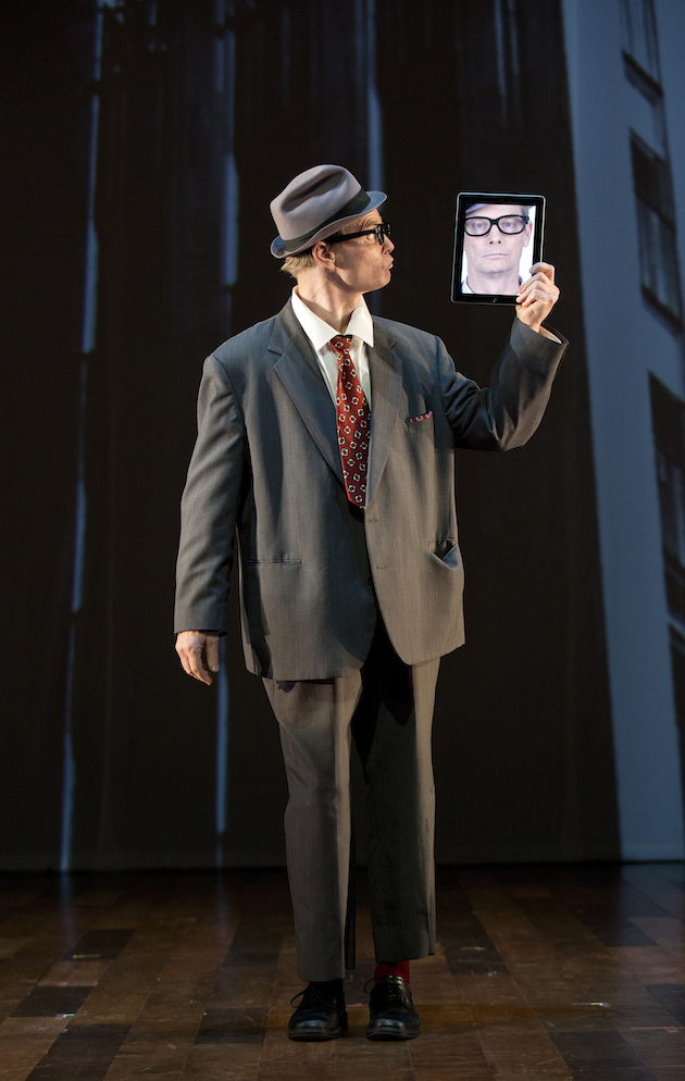 Bill Irwin in his iPad routine
