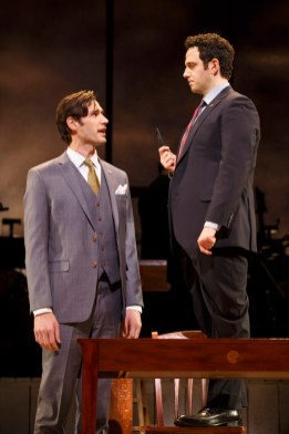 John Behlmann (Thomas Jefferson), and Santino Fontana (John Adams)