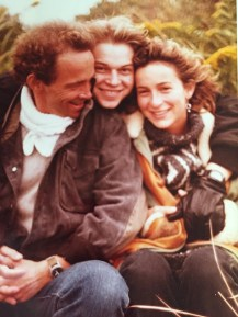 Joel Grey with his two children, James and a teenage Jennifer Grey, 1973.