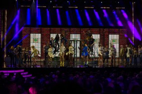A number from Kinky Boots, which won three Olivier Awards, including best musical
