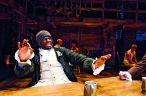 Okieriete Onaodowan who portrays both James Madison and Hercules Mulligan