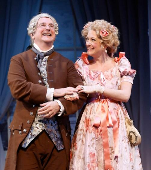 Mark Linn-Baker and Helen Cespedes as Sir Peter and Lady Teazle