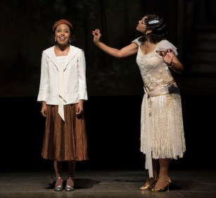 Adrienne Warren and Audra McDonald in Shuffle Along, or The Making of the Musical Sensation of 1921 and All That Followed,