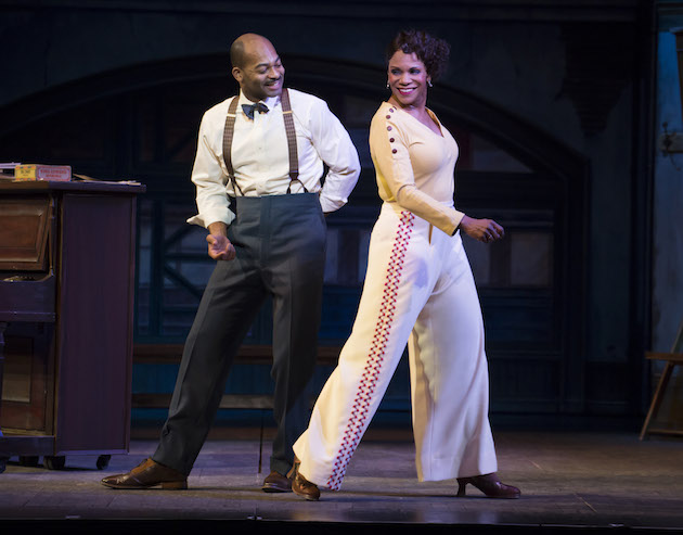 Brandon Victor Dixon and Audra McDonald and ensemble