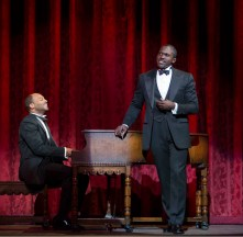 Brandon Victor Dixon as Eubie Blake and Joshua Henry as Noble Sissle in Shuffle Along, or the Making of the Musical Sensation of 1921 and All That Followed,