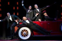 Joshua Henry, Brandon Victor Dixon, Billy Porter and Brian Stokes Mitchell, with Richard Riaz Yoder in Shuffle Along, or The Making of the Musical Sensation of 1921 and All That Followed,