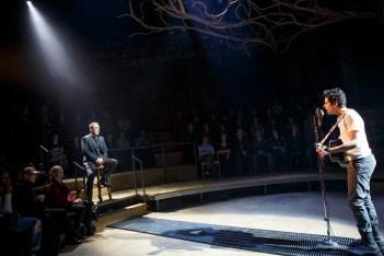 Patrick Page as Hades and Damon Daunno as Orpheus