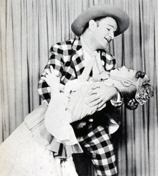Barbara Cook with her husband David LeGrant in the 1953 revival of Oklahoma!