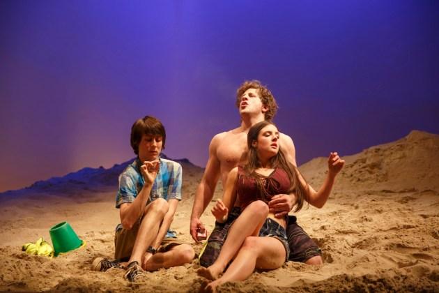 Owen Campbell, Joe Tippett, and Elise Kibler