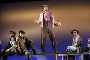 Brandon Victor Dixon in The Scottsboro Boys Off-Broadway by Kander and Ebb