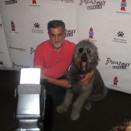 Broadway animal trainer Bill Berloni teaches his latest proteges to pose for the cameras.