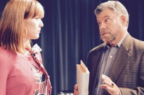 Kaitlin Large as Marie the student, and Felipe Gorostiza as Pablo