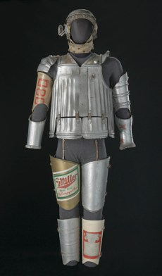 The costume for the Tin Man from the musical The Wiz, 1975