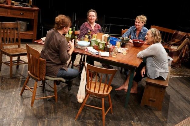 my Warren, Maryann Plunkett, Lynn Hawley, and Meg Gibson in What Did You Expect?