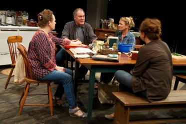 Maryann Plunkett, Jay O. Sanders, Lynn Hawley, and Amy Warren in What Did You Expect?, Play Two of The Gabriels: Election Year in the Life of One Family