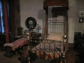 Edwin Booth's bedroom. Pictured is reportedly the bed where he died on June 7, 1893, at the age of 59.