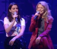 Anne Hathaway and Kelli O'Hara