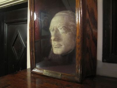Life mask of Edwin Booth, the great actor who founded the club in his home in 1888, and continued to live there above the fray until his death five years later.