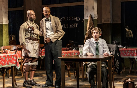 Sahr Ngaujah, Leon Addison Brown, and Noah Robbins in Master Harold...and the boys