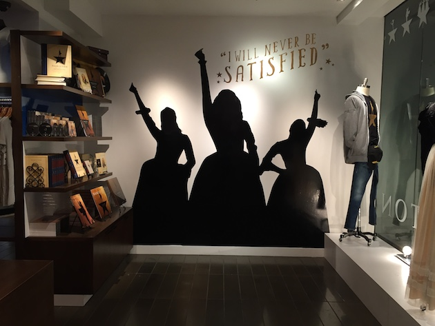 Inside the Hamilton store on 46th Street