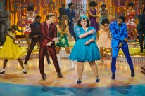 HAIRSPRAY LIVE! -- Pictured: (l-r) Shahadi Wright Joseph as Little Inez, Garrett Clayton as Link Larkin, Ariana Grande as Penny Pingleton, Maddie Baillio as Tracy Turnblad, Ephraim Sykes as Seaweed J. Stubbs -- (Photo by: Paul Drinkwater/NBC)