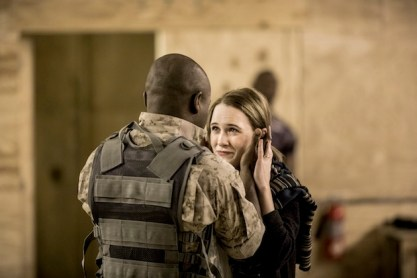 David Oyelowo as Othello and Rachel Brosnahan as Desdemona