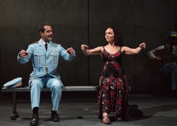 (l-r) Tony Shalhoub and Katrina Lenk in The Band's Visit