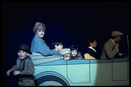 """Angela Lansbury (2L) in a scene from the Broadway revival of the musical """"Gypsy""""."""