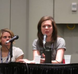 Celia Keenan-Bolger and Margo Seibert at Actors and Activism panel at BroadwayCon