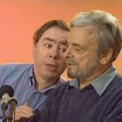Andrew Lloyd Webber and Stephen Sondheim, who share a birthday, March 22nd, albeit 18 years apart.