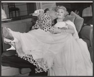 Noel Coward and Eva Gabor in the second of six Broadway productions of Coward's Present Laughter.